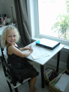 Jillian at her desk