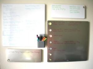 Dry Erase Boards Organized