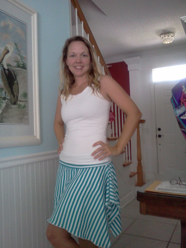 Stripe Skirt and Tank