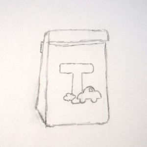Boy's Lunch Bag Sketch