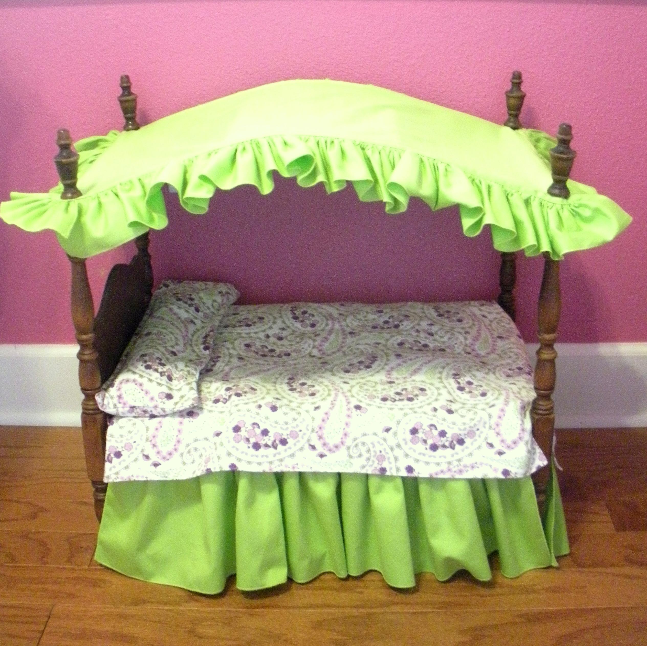 Кровать для кукол своими руками фото мастер класс