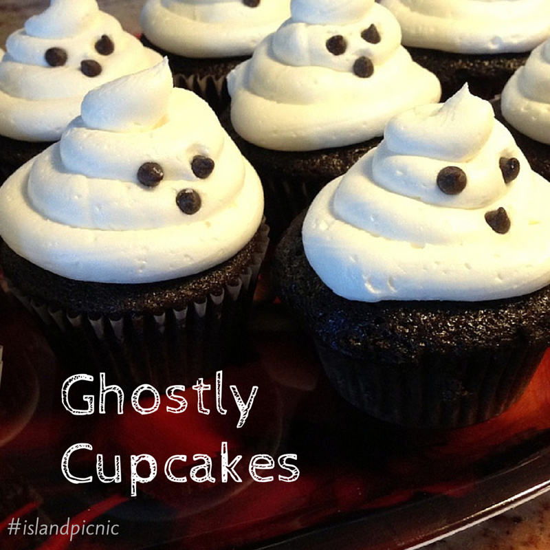 Ghostly Cupcakes - Vegan Chocolate