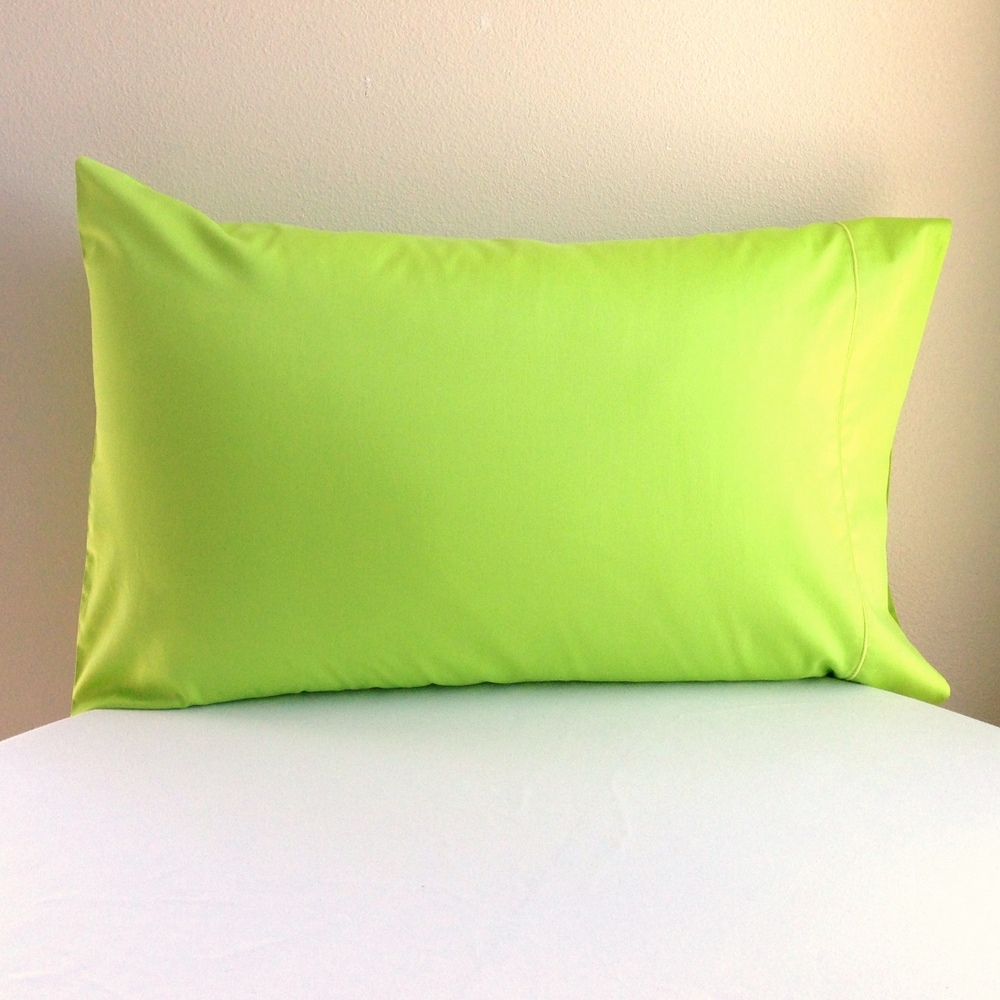 Organic Pillowcase  Lime Green