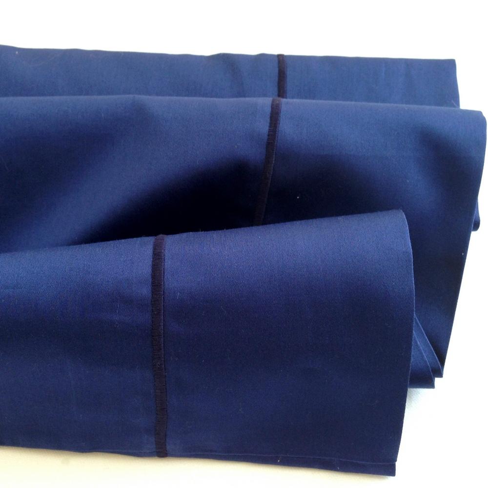 Organic Pillowcase - Navy Blue