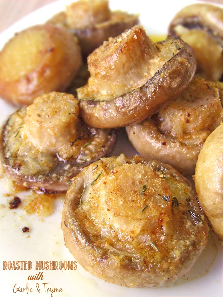 Roasted Garlic Herb Mushrooms