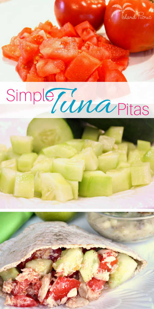 Simple Tuna Pitas for Lunch