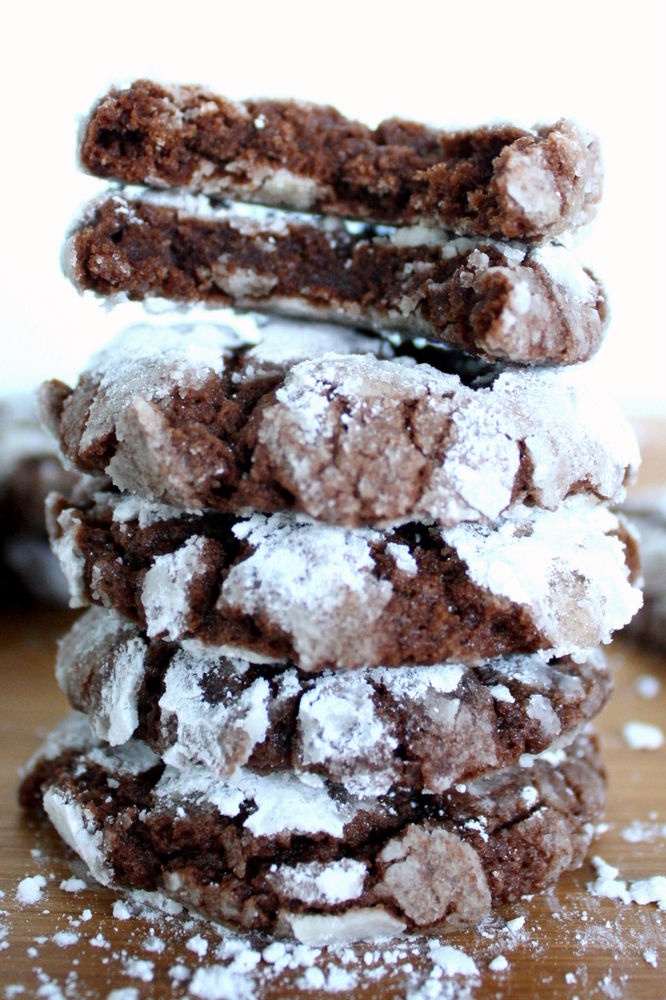 Chocolate Crinkle Cookies -- Vegan