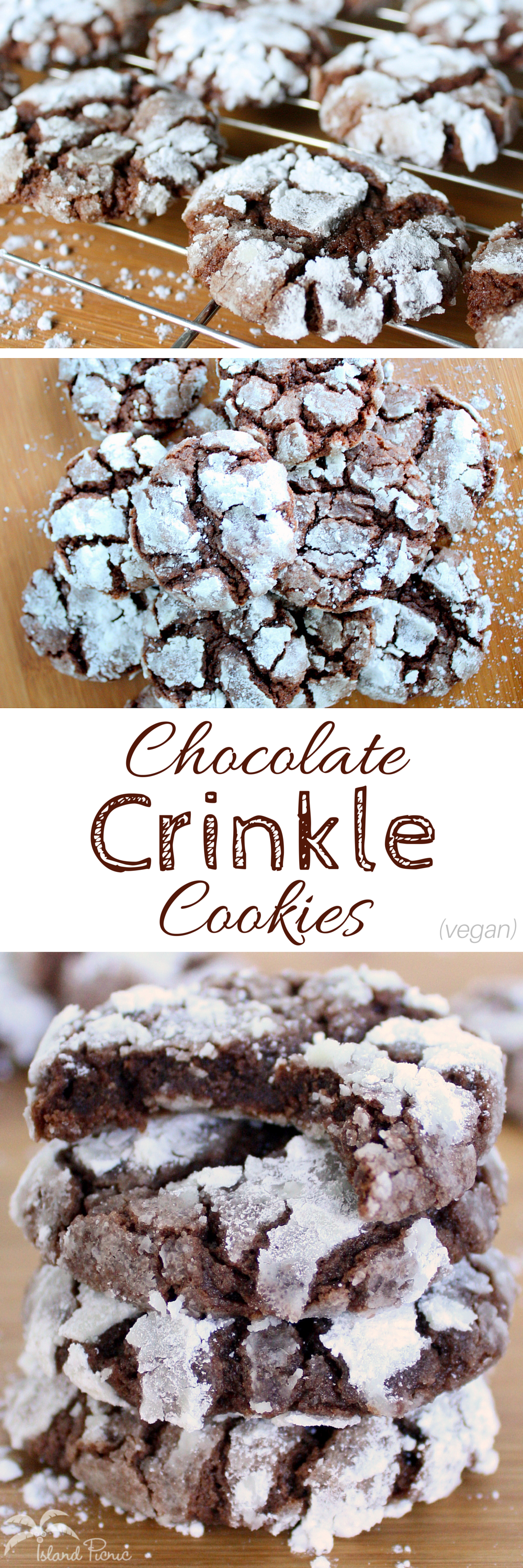 ChocolateCrinkleCookiesVegan