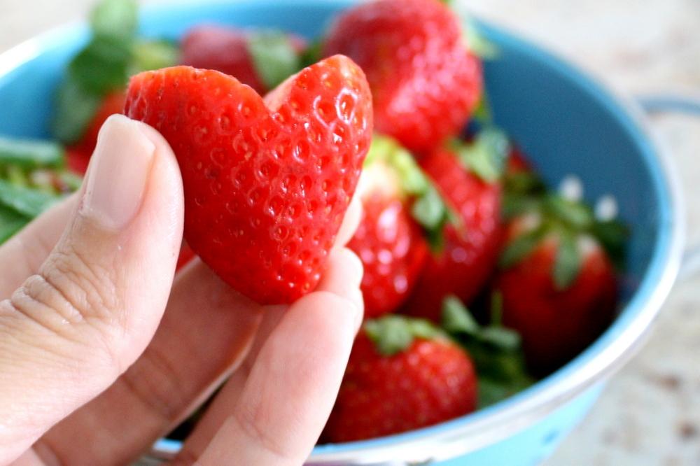 Valentine Strawberry Hearts